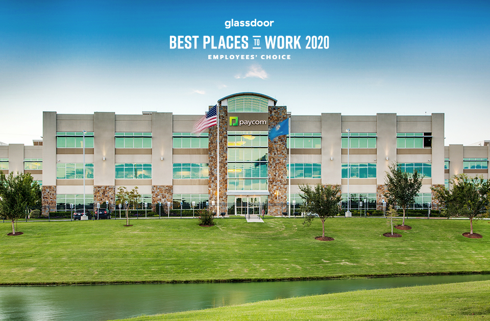 Paycom Named One of Glassdoor's Best Places to Work for 2020