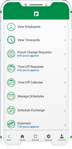 Manager-on-the-Go product screen