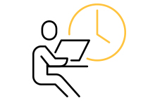 employee hours icon