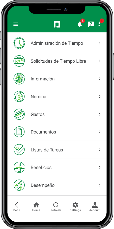 Screenshot of Paycom's Employee Self-Service app