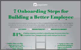 7 Onboarding Steps for Building a Better Employee Infographic